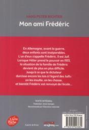 Mon ami Frédéric - 4ème de couverture - Format classique