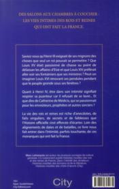 Dans l'intimité des rois et reines de France - 4ème de couverture - Format classique