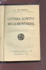 Lettres Ecrites De La Montagne. - Couverture - Format classique