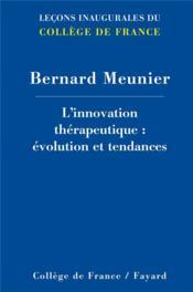 Innovations thérapeutiques - Couverture - Format classique