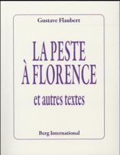 La peste à Florence ; et autres textes - Couverture - Format classique