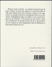 La peste à Florence ; et autres textes - 4ème de couverture - Format classique