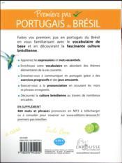 Premiers pas en brésilien ; tout pour s'initier au portugais du Brésil - 4ème de couverture - Format classique