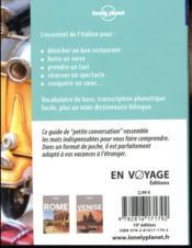 Italien (10e édition) - 4ème de couverture - Format classique