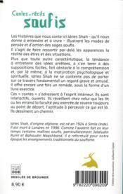 Contes et récits soufis - 4ème de couverture - Format classique