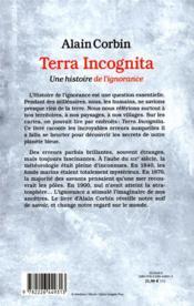 Terra incognita ; une histoire de l'ignorance - 4ème de couverture - Format classique