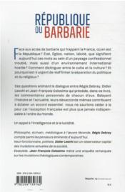 République ou barbarie - 4ème de couverture - Format classique