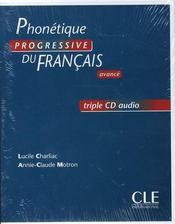 Phonetique progressive fle niveau avance cd - Intérieur - Format classique
