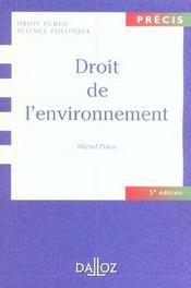 Droit de l'environnement - Intérieur - Format classique