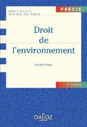 Droit de l'environnement - Couverture - Format classique
