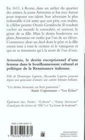 Artemisa - 4ème de couverture - Format classique