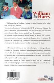 William et Harry ; dernière chance pour la couronne - 4ème de couverture - Format classique
