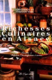 Richesses culinaires en alsace - Couverture - Format classique