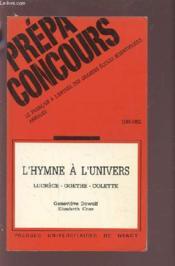 L'hymne a l'univers. lucrece, goethe, colette - Couverture - Format classique
