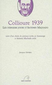 Collioure 1939 - Couverture - Format classique