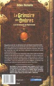 Les chroniques de Nightshade t.1; le grimoire des ombres - 4ème de couverture - Format classique