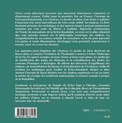 Les Chakras, Le Jardin De Dieu - 4ème de couverture - Format classique