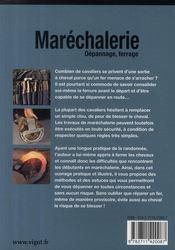 Maréchalerie ; dépannage, ferrage (3e édition) - 4ème de couverture - Format classique