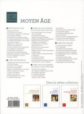 Manuel Moyen Age ; chrétienté et islam - 4ème de couverture - Format classique