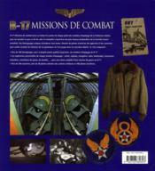 B-17 ; missions de combat - 4ème de couverture - Format classique