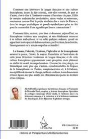 Espaces francophones tunisiens ou main de Fatma - 4ème de couverture - Format classique