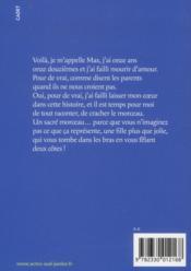 Un max d'amour monstre - 4ème de couverture - Format classique