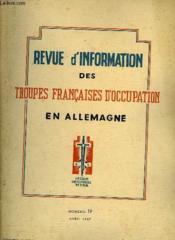 Revue D'Information Des Troupes Francaises D'Occupation En Allemagne - Numero 19 - Couverture - Format classique