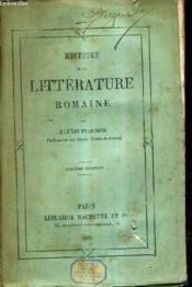 Histoire De La Litterature Romaine / 6e Edition. - Couverture - Format classique
