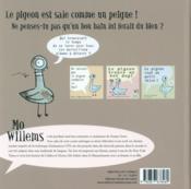 Le pigeon a besoin d'un bon bain! - 4ème de couverture - Format classique