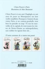 Chien Pourri à Paris - 4ème de couverture - Format classique