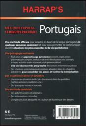 Harrap's méthode express portugais - 4ème de couverture - Format classique