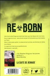 Reborn ; garder son humanité à tout prix - 4ème de couverture - Format classique