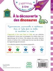 J'apprends à lire avec Sami et Julie ; à la découverte des dinosaures - 4ème de couverture - Format classique