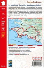 La pointe du Raz et les Montagnes Noires ; de Douarnenez à Lorient : GR 34, GR 38 - 4ème de couverture - Format classique