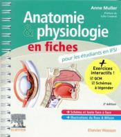 Anatomie et physiologie en fiches pour les étudiants en IFSI (2e édition) - Couverture - Format classique