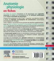 Anatomie et physiologie en fiches pour les étudiants en IFSI (2e édition) - 4ème de couverture - Format classique