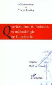 Questionnements Feministes Et Methodologie De La Recherche - Intérieur - Format classique