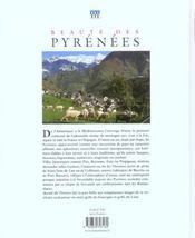 Des Pyrenees - 4ème de couverture - Format classique