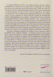 Regard sur les amerindens. de la guyane francaise et du territoire de l'inini en 1930 - 4ème de couverture - Format classique