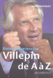 Dictionnaire insolite villepin de a à z - Intérieur - Format classique