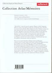 Atlas historique de l'Egypte ancienne ; de Thèbes à Alexandrie : la tumultueuse épopée des pharaons - 4ème de couverture - Format classique