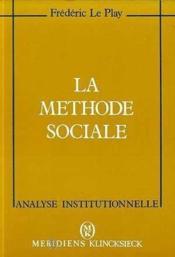 Methode sociale (la) - Couverture - Format classique
