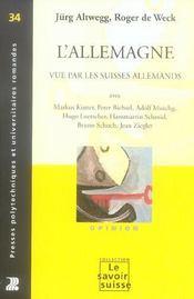 L'allemagne vue par les suisses allemands - opinion n 34 - Intérieur - Format classique