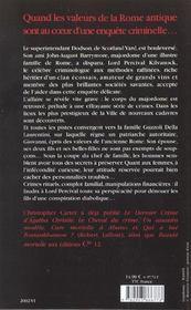 Crimes romains - 4ème de couverture - Format classique