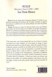 Mémoires t.1 ; les trois Henry - 4ème de couverture - Format classique
