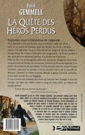 Le cycle de Drenaï ; la quête des héros perdus - 4ème de couverture - Format classique