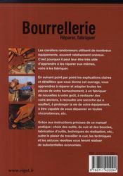 Bourrellerie, réparer, fabriquer (3e édition) - 4ème de couverture - Format classique