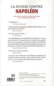 La russie contre napoleon - 4ème de couverture - Format classique