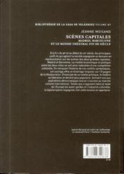 Scenes capitales - 4ème de couverture - Format classique