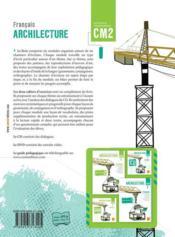 ARCHILECTURE ; livre de l'élève ; CM2 - 4ème de couverture - Format classique